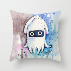 Blooper Watercolor Mario Art Throw Pillow