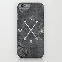 iPhone Cases featuring Compass (Map) by Zach Terrell