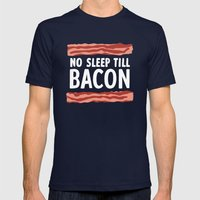 No Sleep Till Bacon Mens Fitted Tee Navy SMALL