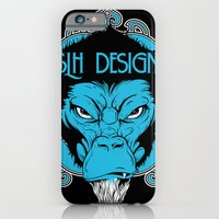iPhone & iPod Case featuring SLH Simian  by Steven Luros Holliday