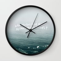 HELD THE OCEANS? Wall Clock