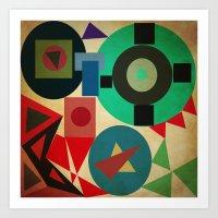geometric mess Art Print