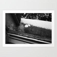 SOAP MEETS SNOW Art Print