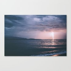 Lightening Over The Stra… Canvas Print