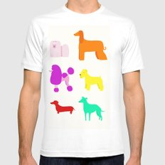 The Rainbow Dogs II White Mens Fitted Tee SMALL