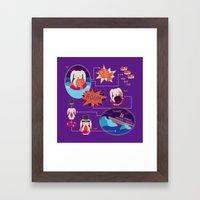 BUNNY SHIPWRECK FLOWCHAR… Framed Art Print