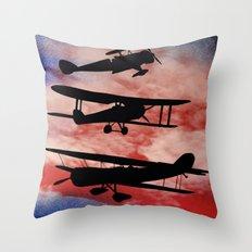 WAR PLANES Throw Pillow
