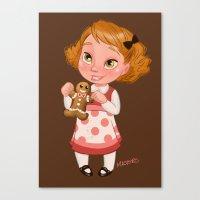 Gingerbread Baker Canvas Print