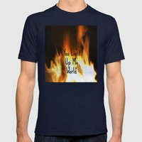 You Light Up My World Mens Fitted Tee Navy SMALL