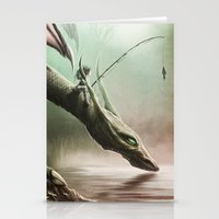 Fishing On The Drinking Dragon Stationery Cards