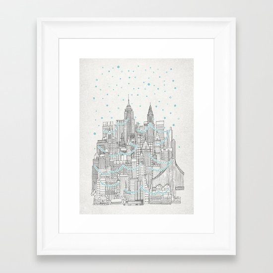 Winter in New York Framed Art Print