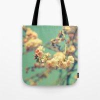Pink Blue Blossom Tote Bag