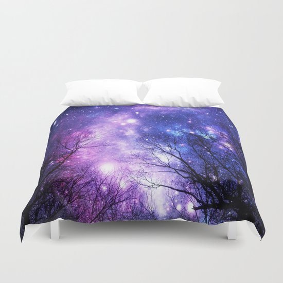 Black Trees Purple Blue Space Duvet Cover By 2sweet4words