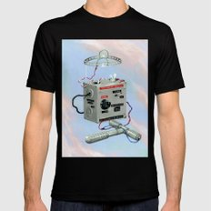 Uncle Rico's Time Machine Mens Fitted Tee Black SMALL