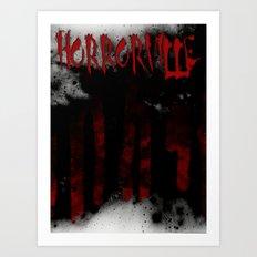HorrorVille b-movie poster Art Print