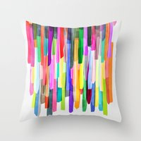 Colorful Stripes 4 Throw Pillow