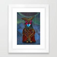Owl-Girl Framed Art Print