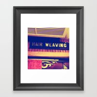 Hair Weaving  Framed Art Print