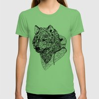 Mr Wolf Womens Fitted Tee Grass SMALL