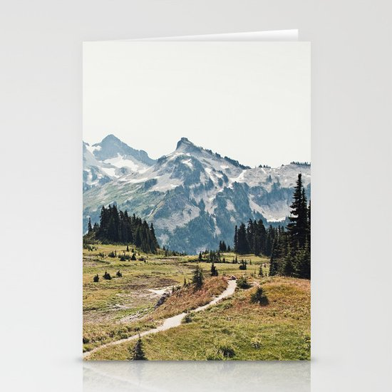 Mountain Trail Stationery Card