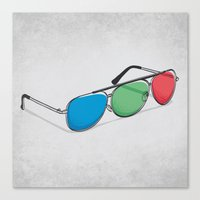 3D Glasses Canvas Print