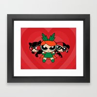 Supervillain Girls Framed Art Print
