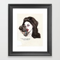 "Lana ""The Saddest,badd… Framed Art Print"