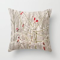 Nature With Snow Throw Pillow