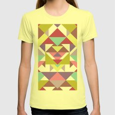 Second Heritage  Womens Fitted Tee Lemon SMALL