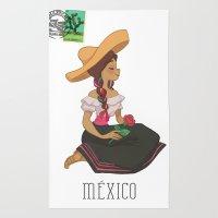 México Postal  Rug