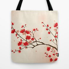 Oriental style painting, plum blossom in spring Tote Bag