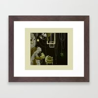 This is me, my Mum and my Dad, when I was very little. Framed Art Print