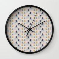 Multi-Pastel Triangles Wall Clock