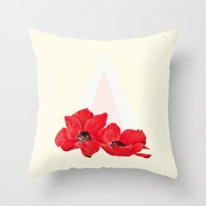 Floral Triangle Throw Pillow