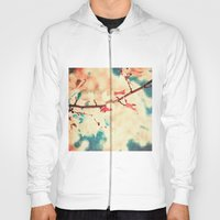 Autumn (Leafs in a textured and abstract sky) Hoody