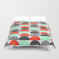 My Favorite Candy / Red … Duvet Cover