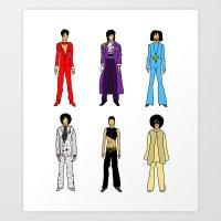 Outfits Of Prince Fashio… Art Print
