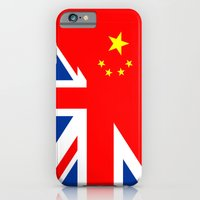 iPhone & iPod Case featuring english chinese country half flag great britain united kingdom china by tony tudor