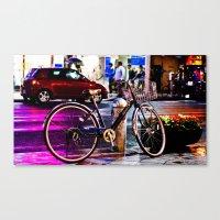 Purple Bicycle Canvas Print