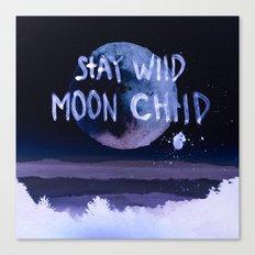 Stay wild moon child (purple) Canvas Print