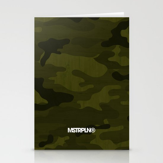 Modern Woodgrain Camouflage / Greenwoods DPM Stationery Card