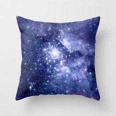 Cobalt Dreams, Stars Galaxies Nebula Universe Throw Pillow