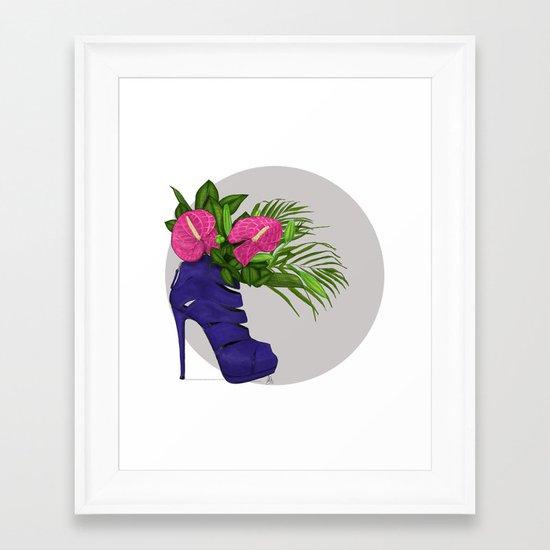 Thank you for flowers Framed Art Print