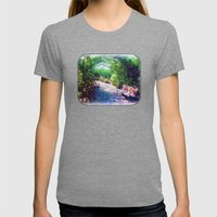 Rosy Bower Womens Fitted Tee Tri-Grey SMALL