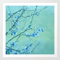 blue may Art Print