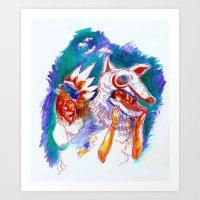 Masked Art Print