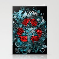 Recycle World - Blue Stationery Cards