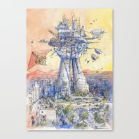The Airship Station Canvas Print