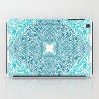 Teal Tangle Square iPad Case