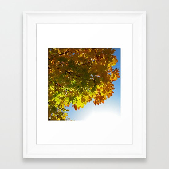 autumn tree III Framed Art Print